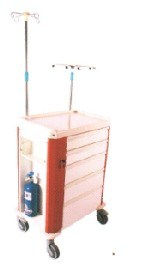 Medical Anesthesia Cart with Five Drawers (P-22) pictures & photos