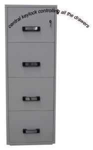 UL 2 Hours Fire Resistant Cabinet (FRD750-II-4001) , 4 Drawers High Tech Vertical Filing Cabinets pictures & photos