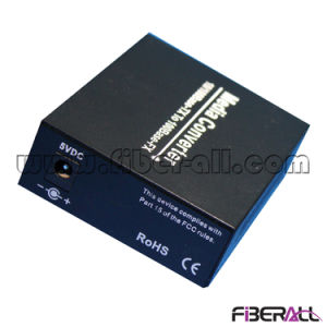 10/100m Media Converter with 1X9 FC Dual Fiber Module 20km pictures & photos