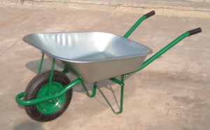 One Wheel Usage Yard Wheel Barrow Wb6203 pictures & photos