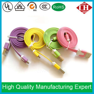1m Colorful Flat Micro USB Data Charger Cable for Cellphone
