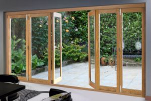 American Style Solid Wood Aluminium French Door, Solid Teak/Oak/Larch/Pine Wood Clad Aluminum Modern French Door pictures & photos