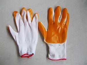 PVC Nitrile Coated Polyester Gloves