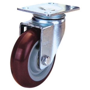 Swivel PU Caster Wheel (Red) (3303550) pictures & photos