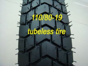 Good Quality Motorcycle Tubeless Tire (110/80-19) pictures & photos