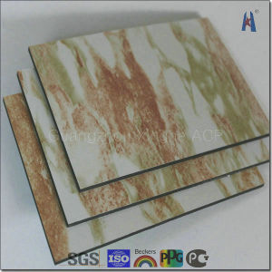 marble design aluminum composite sheet for hotel decoration - Glass Sheet Hotel Decorating
