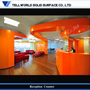 Acrylic Stone Reception Desk Design (TW-PART-151) pictures & photos