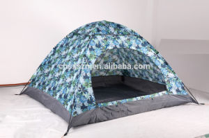 Manual Folding Outdoor Camping Tent with Camouflage Fabric