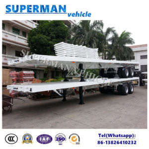 40FT 2 Axle Container Transport Flatbed Semi Trailer pictures & photos