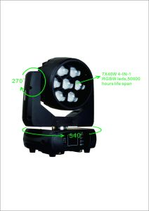 Professional Stage Lighting 7*40W LED Moving Light Wash Zoom pictures & photos