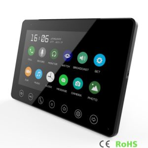 Memory 7 Inches Intercom Home Security Luxury Video Doorphone Interphone pictures & photos