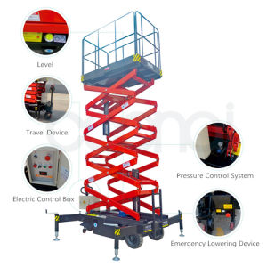 12m Electric Hydraulic Aerial Work Platform Self-Propelled Scissor Lift pictures & photos
