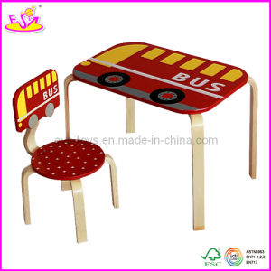 Children Wooden Furniture - Children Wooden Study Desk and Chair (W08G075) pictures & photos