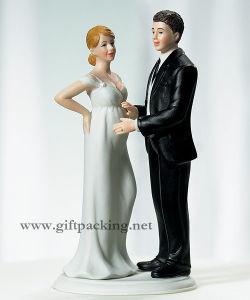 Pregnant Bride Wedding Polyresin Craft