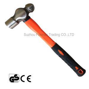 Ball-Pein Hammer with Rubber Handle or Wood Handle (HM-002) pictures & photos