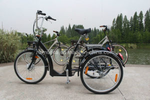 Fashion Electric Tricycle Steady Safe City Road E Trike Black E-Bike Old Men Outdoor Taking Cargo pictures & photos