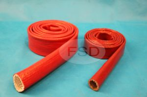 Silicone Rubber Fiberglass Sleeve pictures & photos