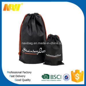 Cheap Price Polyester Promotional Drawstring Shoe Bag pictures & photos