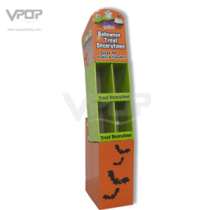 Halloween 4 Pockets Cardboard Display Stand for Candy