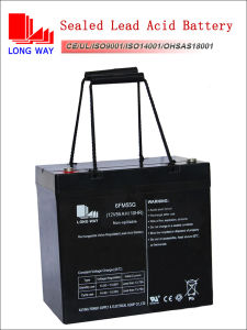 12volt 55ah Rechargeable Sealed Lead Acid UPS Battery Manufacturer pictures & photos