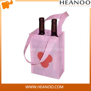 Customized Wholesale Cheap Wine Bottle None Woven Shopping Bag pictures & photos
