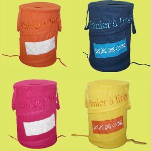 Embroidery Laundry Hamper (QD070801-1-2-3-4)