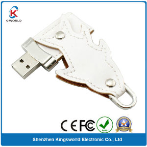 Leather Swivel USB Thumb Drive (KW-0237) pictures & photos