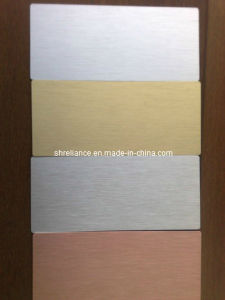 Brushed Aluminum/Aluminium Sheet for Decoration Wall pictures & photos