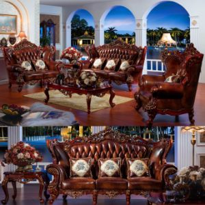 Wood Sofa for Living Room Furniture and Home Furniture (513A) pictures & photos