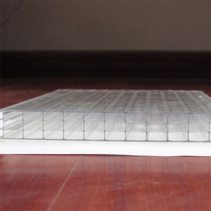 UV Coated Four Wall Hollow Polycarbonate Sheet for Window pictures & photos