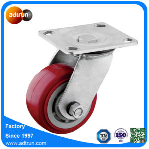 Roller Bearing Heavy Duty PP Core Red PU Swivel Casters pictures & photos