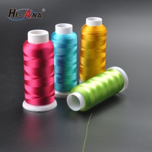 Free Sample Available Dyed 100% Rayon Embroidery Thread pictures & photos
