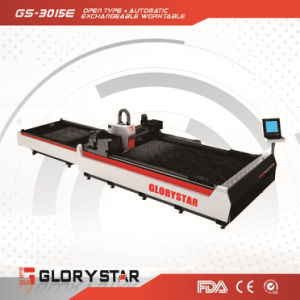 Cheap Fiber Laser Metal Cutting Machine with Exchangeable Table pictures & photos