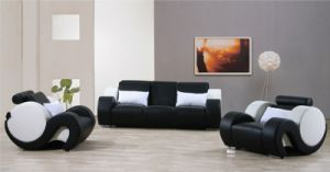 Living Room Leather Sofa with Armrest (L052) pictures & photos
