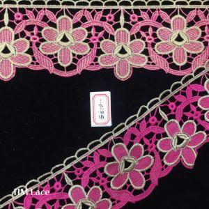 8cm Gorgeous Mesh Venice Lace Trim in Sage Pink Hme810 pictures & photos
