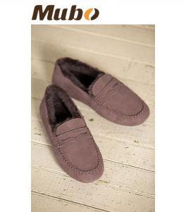 Australian Merino Sheepskin Moccasin Women Casual Shoes pictures & photos