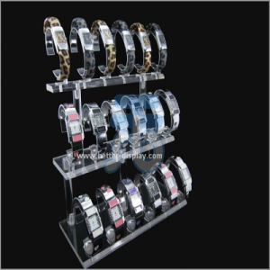 Clear Glass Acrylic Watch Display Cabinet pictures & photos