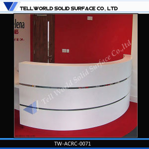 Commercial Artificial Stone High Quality White Salon Reception Desk pictures & photos