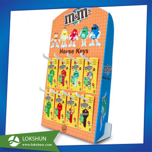 Cardboard Sidekick Display for Promotion, Pop Cardboard Display with Hooks for Chocolate pictures & photos