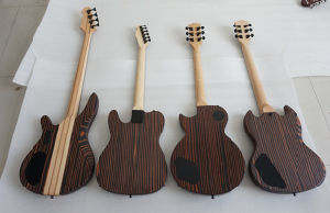 Wholesale Zebrawood Satin Finish Electric Guitar Cheap Price pictures & photos