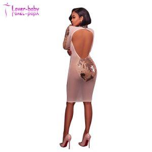 Peplum Long Sleeve Ladies Evening Dress (L2016) pictures & photos