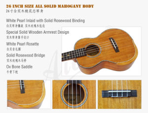 China All Solid Mahogany Ukulele with Gloss Finish Wholesale pictures & photos