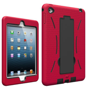 Colorful Silicone+Plastic Double Protection Tablet Case with Holder for iPad Mini 4 pictures & photos