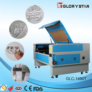 80W Glass Tube Laser Cutting and Engraving Machine for Cloth pictures & photos