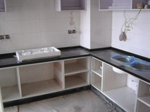 MDF with Imported Melamine Surface Kitchen Furnitures pictures & photos