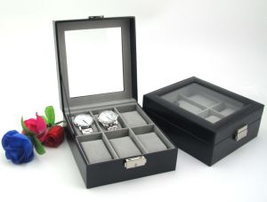Factory Direct Selling PU Leather Wrist Watch Box Organiser