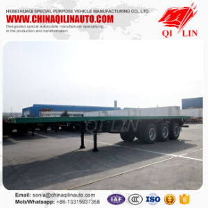 40feet 3axle Flatbed Container Semi-Trailer pictures & photos