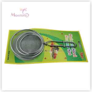 3PCS Kitchen Tools Sieves, Metal Colanders Mesh Strainer (Dia. 8/10/12cm) pictures & photos
