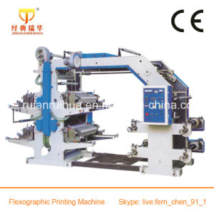4 Color Flexo Printing Machine with Ceramic Anilox Roller pictures & photos