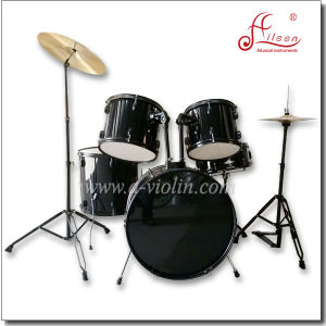 Wholesale 5PCS Black Paint Adult PVC Jazz Drum Set pictures & photos